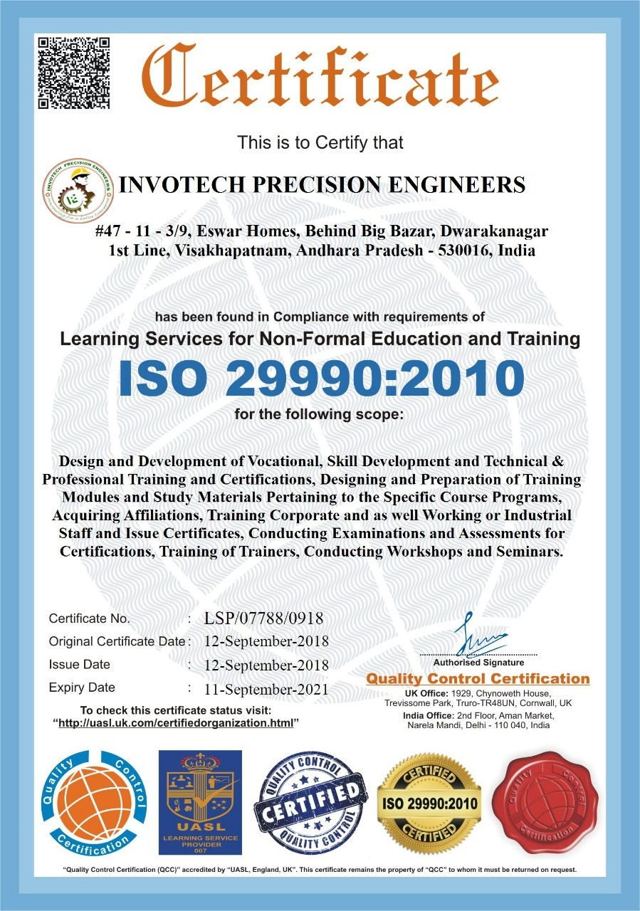 Invotech Precision Engineers International Health Safety Training