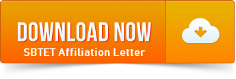 Download SBTET Affiliation Letter